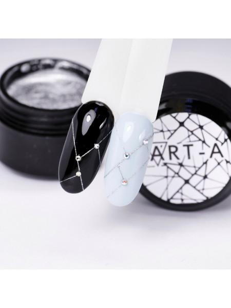 Гель-Паутинка (Spider Gel) для дизайна ногтей Art-A №6 Серебро
