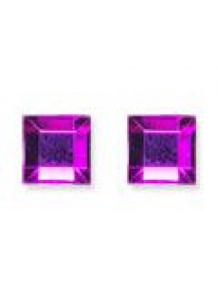 Стразы квадрат 4мм. Purple Flare 10шт.